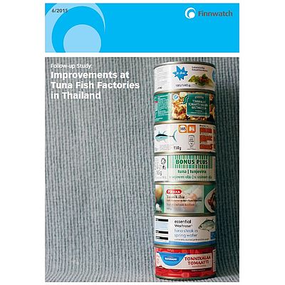 "Cover ""Improvements at Tuna Fish Factories in Thailand"""