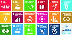 Grafische Darstellung der 17 sustainable development goals